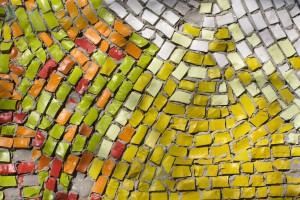 antique mosaic close up