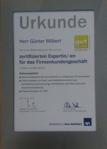 Urkunde_zertifizierter Experte für das Firmenkundengeschäft 2016